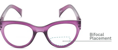 Detail of The Maren Bifocal in Matte Purple