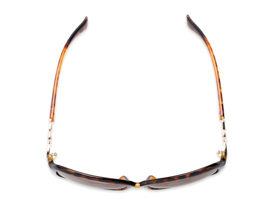 Overhead of The Marigold Bifocal Reading Sunglasses in Tortoise/Gold with Amber