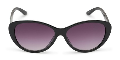 Front of The Mary Reading Sunglasses in Black with Smoke