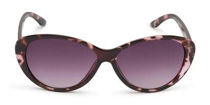 Front of The Mary Reading Sunglasses in Pink Tortoise with Smoke
