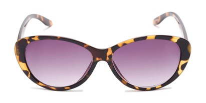 Front of The Mary Reading Sunglasses in Yellow Tortoise with Smoke