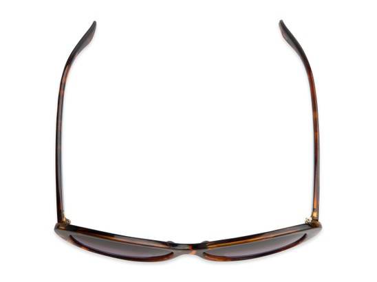 Overhead of The Mary Reading Sunglasses in Brown Tortoise with Smoke