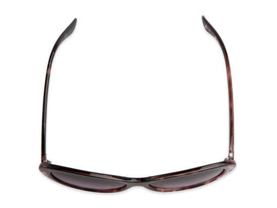 Overhead of The Mary Reading Sunglasses in Pink Tortoise with Smoke