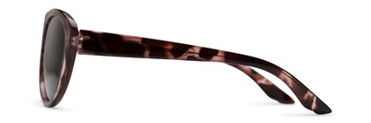 Side of The Mary Reading Sunglasses in Pink Tortoise with Smoke