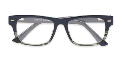 Folded of The Max - Foster Grant for Readers.com in Navy Blue/Grey Stripe Fade