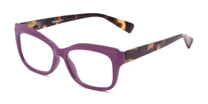 Angle of The Melody in Purple/Tortoise, Women's Cat Eye Reading Glasses