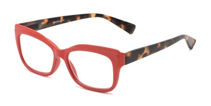 Angle of The Melody in Red/Tortoise, Women's Cat Eye Reading Glasses