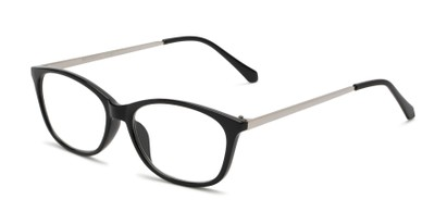 Angle of The Melon in Black/Silver, Women's Cat Eye Reading Glasses