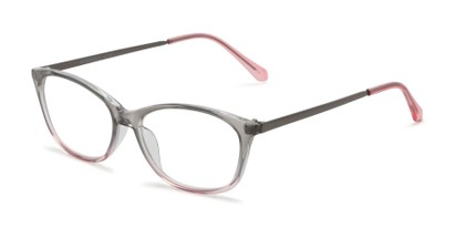 Angle of The Melon in Grey/Pink, Women's Cat Eye Reading Glasses