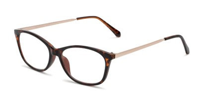 Angle of The Melon in Tortoise, Women's Cat Eye Reading Glasses
