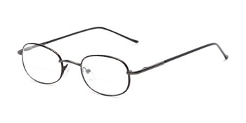 9d1938b82 Angle of The Memphis Bifocal in Black and Tortoise, Women's and Men's Oval  Reading Glasses
