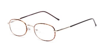 52acabb437eb Angle of The Memphis Bifocal in Gold and Tortoise, Women's and Men's Oval Reading  Glasses