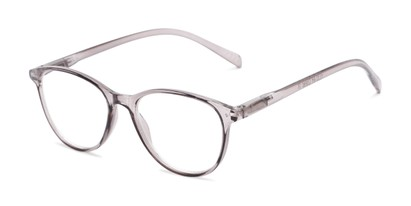 Angle of The Mercy Multifocal Computer Reader in Grey, Women's Cat Eye Computer Glasses