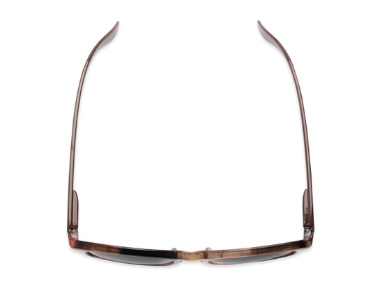 Overhead of The Micah Reading Sunglasses in Brown with Gold Mirror