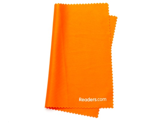 Angle of Microfiber Lens Cleaning Cloth in Orange, Women's and Men's  Cleaning Cloths