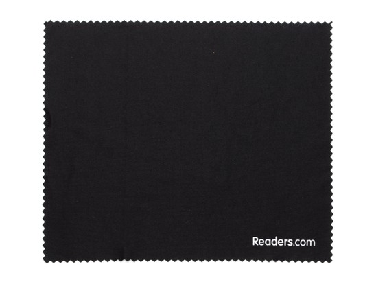 Front of Microfiber Lens Cleaning Cloth in Black