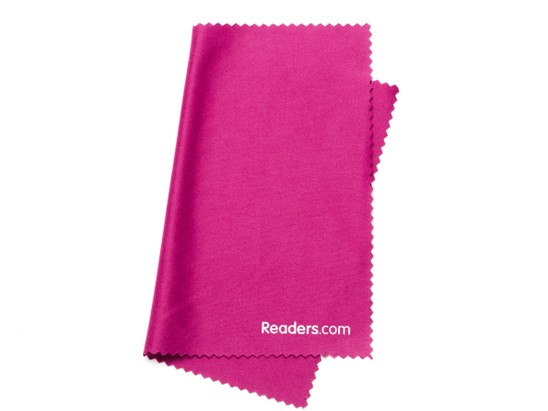 Angle of Microfiber Lens Cleaning Cloth in Dark Pink, Women's and Men's  Cleaning Cloths