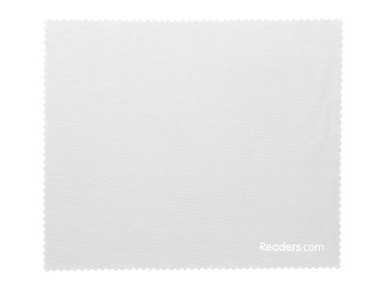 Front of Microfiber Lens Cleaning Cloth in Grey