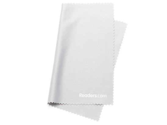 Angle of Microfiber Lens Cleaning Cloth in Grey, Women's and Men's  Cleaning Cloths