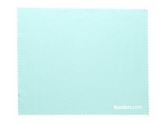 Front of Microfiber Lens Cleaning Cloth in Mint Green