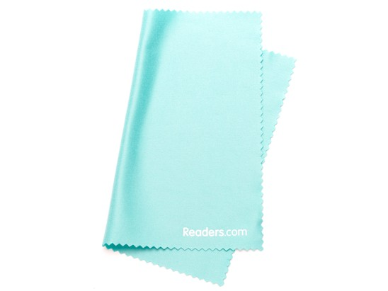 Angle of Microfiber Lens Cleaning Cloth in Mint Green, Women's and Men's  Cleaning Cloths