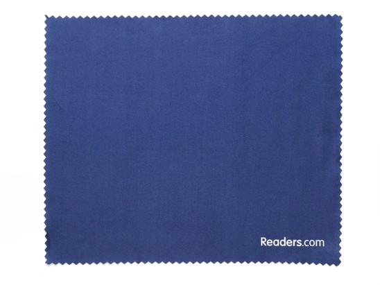 Front of Microfiber Lens Cleaning Cloth in Navy Blue