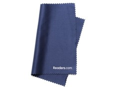Angle of Microfiber Lens Cleaning Cloth in Navy Blue, Women's and Men's  Cleaning Cloths