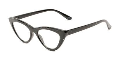 Angle of The Midnight in Black, Women's Cat Eye Reading Glasses