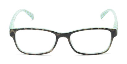 Front of The Mildred in Blue/Green Tortoise