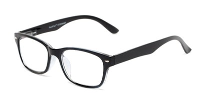 Angle of The Millard Multifocal Reader in Black, Women's and Men's Retro Square Computer Glasses