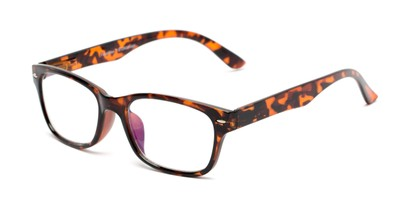 Angle of The Millard Multifocal Reader in Dark Tortoise, Women's and Men's Retro Square Computer Glasses