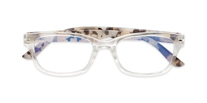 Folded of The Millard Multifocal Reader in Clear/Tortoise