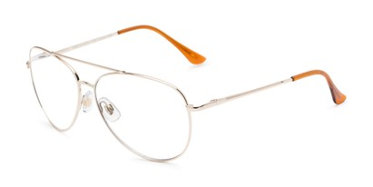 Angle of The Miller Multifocal Computer Reader in Gold, Women's and Men's Aviator Reading Glasses