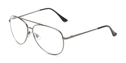 Angle of The Miller Multifocal Computer Reader in Grey, Women's and Men's Aviator Reading Glasses