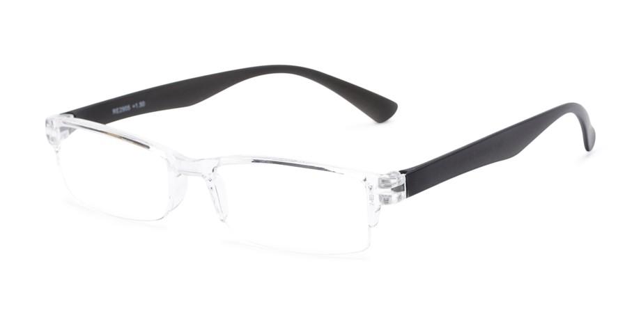1287451efc Clear Plastic Rectangular Reading Glasses