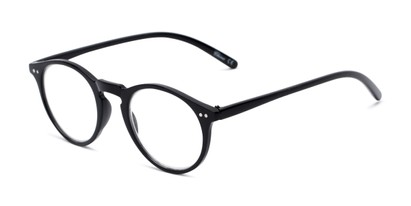 Angle of The Mint in Black, Women's and Men's Round Reading Glasses