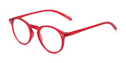 Angle of The Mint in Red, Women's and Men's Round Reading Glasses