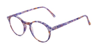 Angle of The Misha in Dark Purple, Women's Round Reading Glasses