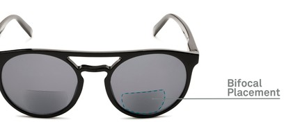 Detail of The Moby Bifocal Reading Sunglasses in Black with Smoke