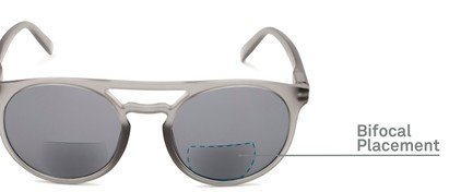 Detail of The Moby Bifocal Reading Sunglasses in Grey with Smoke