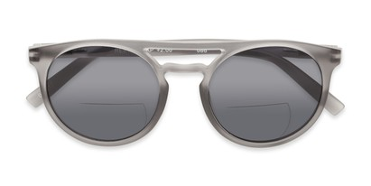 Folded of The Moby Bifocal Reading Sunglasses in Grey with Smoke
