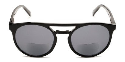 Front of The Moby Bifocal Reading Sunglasses in Black with Smoke