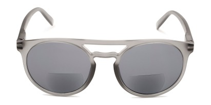 Front of The Moby Bifocal Reading Sunglasses in Grey with Smoke