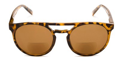 Front of The Moby Bifocal Reading Sunglasses in Tortoise with Amber
