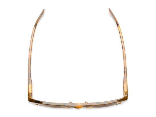 Overhead of The Moby Bifocal Reading Sunglasses in Tortoise with Amber