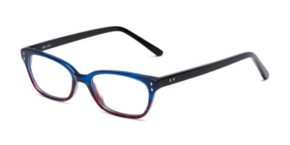 Angle of Morgan by felix + iris in Blue/Red Fade, Women's Cat Eye Reading Glasses