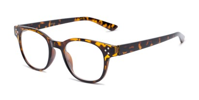 Angle of The Mulberry in Tan Tortoise, Women's and Men's Retro Square Reading Glasses