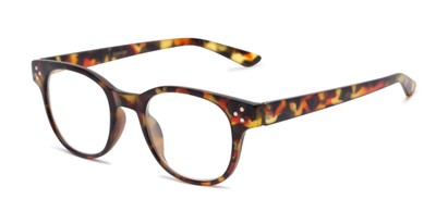 Angle of The Mulberry in Red Tortoise, Women's and Men's Retro Square Reading Glasses
