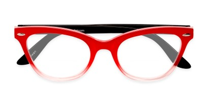 Folded of The Mya Bifocal in Red Fade/Black