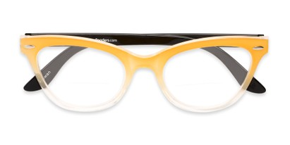 Folded of The Mya Bifocal in Yellow Fade/Black